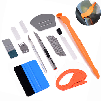 ... película de papel magnético escobilla de goma Kit rascador de la  etiqueta engomada del vehículo de herramientas cuchillo cortador de  accesorios de coche 2309fc5bde1f