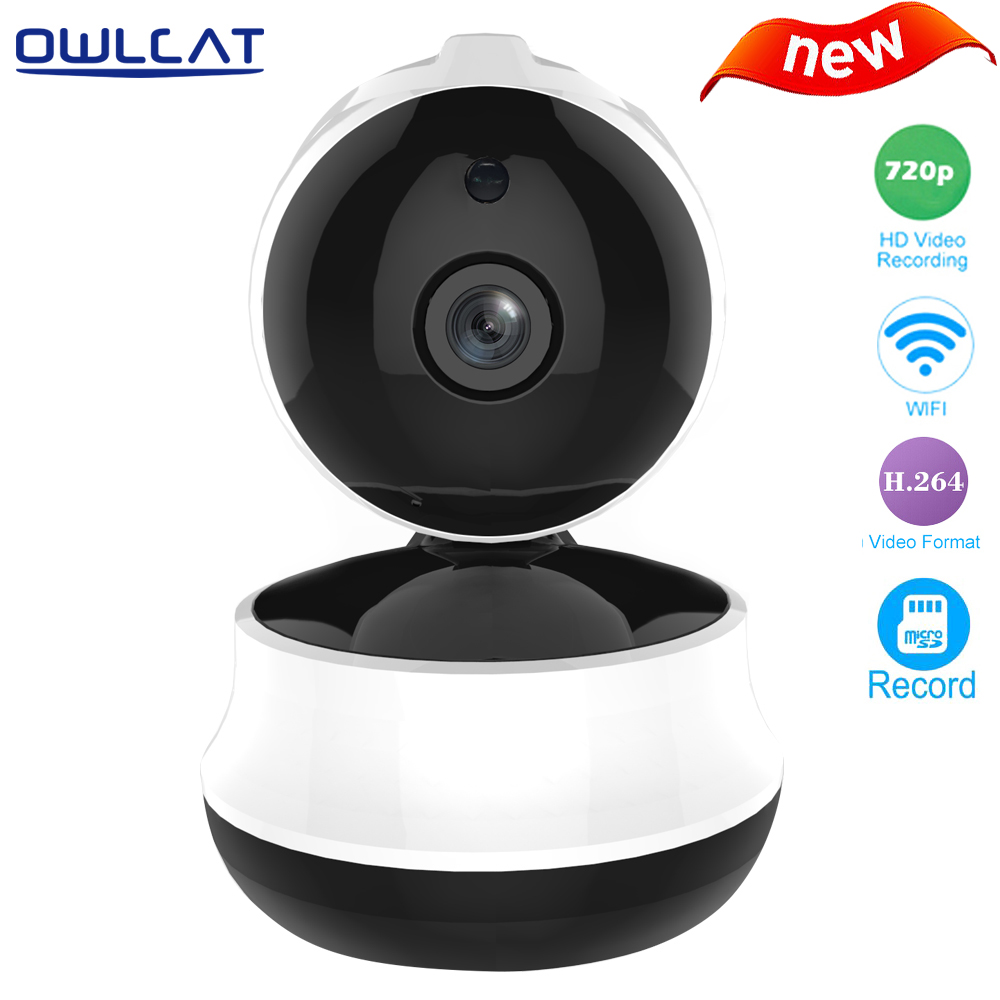Owlcat HD 720P 1.0 MegaPixels CMOS Wifi IP Dome indoor Camera wireless Pan Tilt SD Card Two-way audio Night vision Motion owlcat 720p security wireless network cctv wifi ip camera megapixel hd tf card slot two way audio pan tilt ir cut night vision