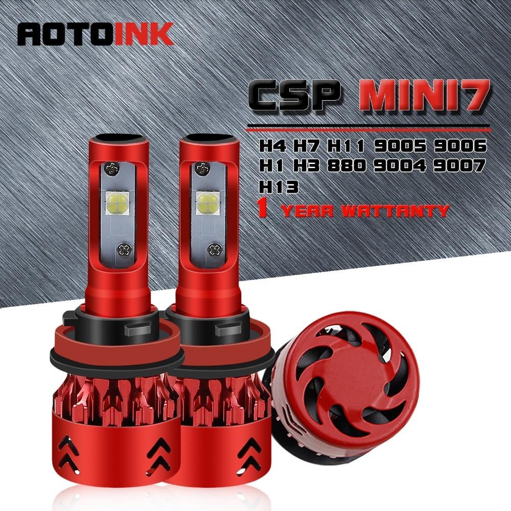 Aotoink 2pcs Car P21w 1156 Ba15s Led Filament Bulb 7506 1157 Bay15d Eih Current Relay Mini Series H4 Headlight 9005 H7 H11 H13 Hi Lo Single Beam