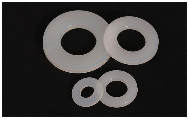 100pcs nylon Washers M14*27*2.5mm hard Plastic gasket transparent ...