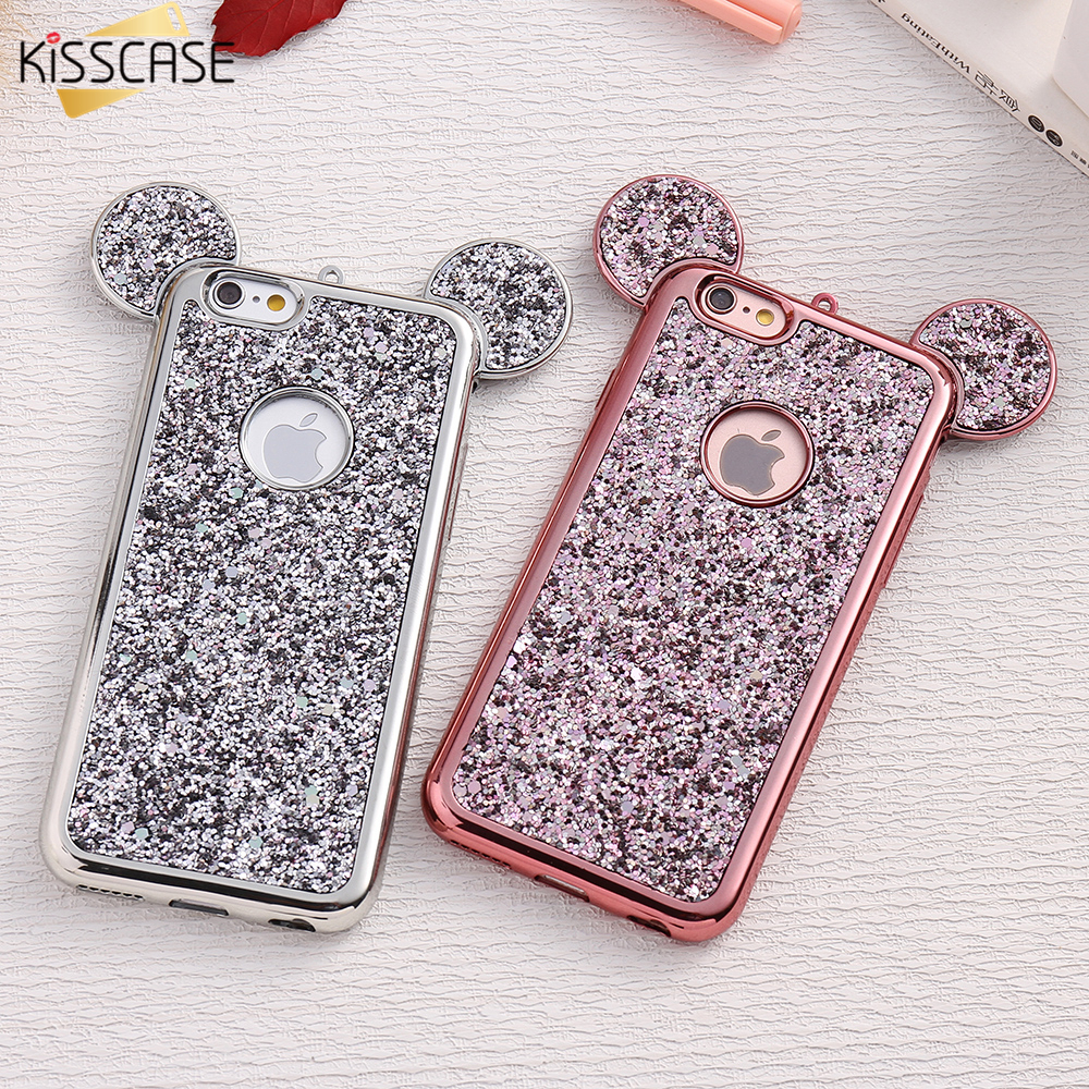 KISSCASE 3D Mickey Mouse Silicone Case For iPhone 6 6s