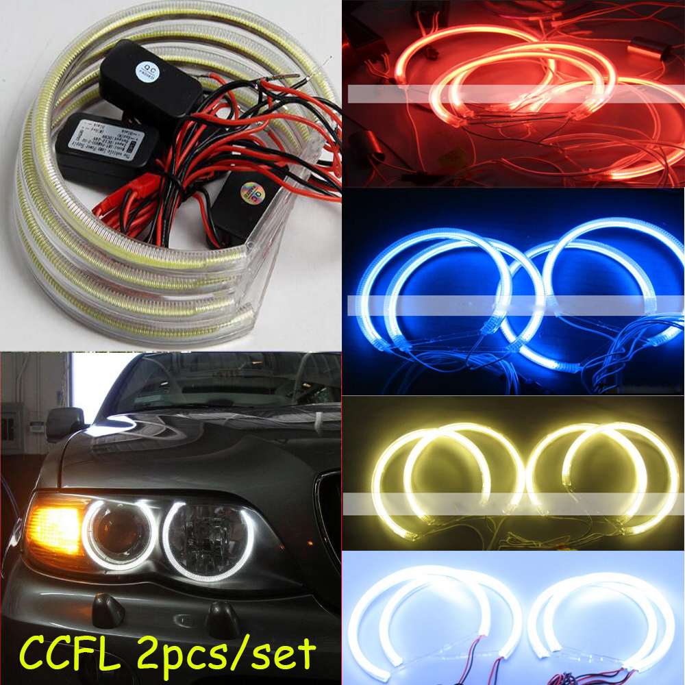 2pcs/set,CCFL angel eyes,COB,White blue red green purple yelow,E30 E32 E34;E36,E39,E46,E87,E53 X5,E83,Z3,Jazz Fit,Mark-X,G35,M35 free shipping 4rings full circle ccfl angel eye ring for wagon frv with red blue yellow green purple white orange colors