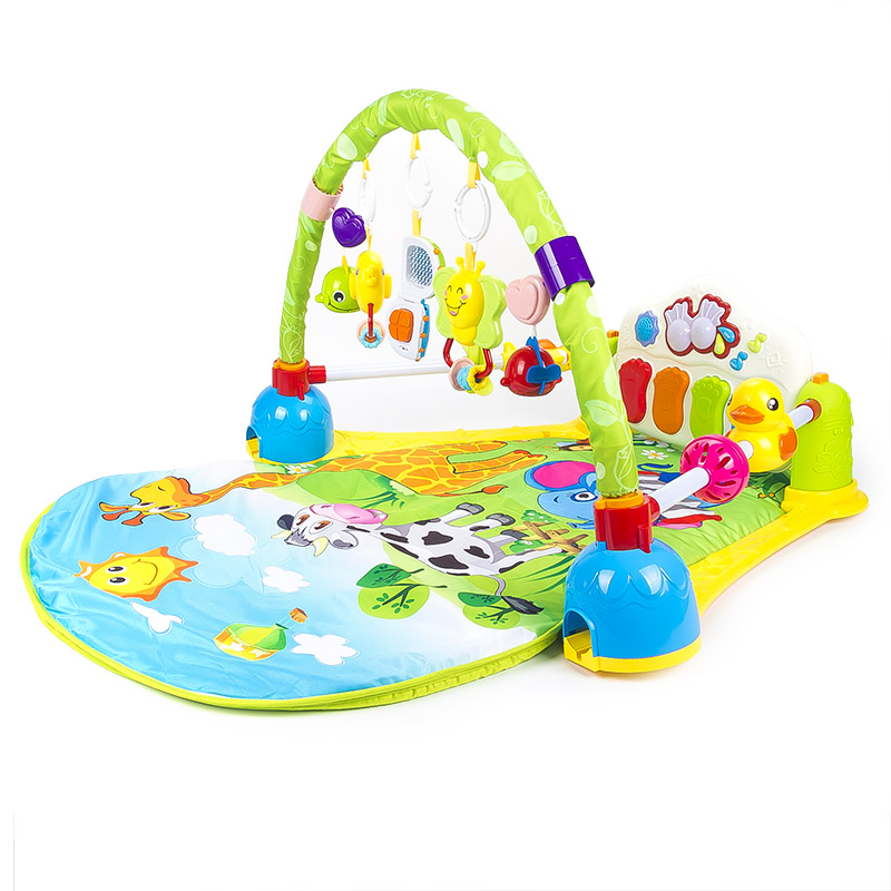 Multifunction Baby Toddler Music Mat with Rattles and Pedal Piano Keyboard Infant Fitness Carpet Educational Rack Toys Pad sonatas fantasies and rondos urtext edition volume i dover classical music for keyboard and piano four hands