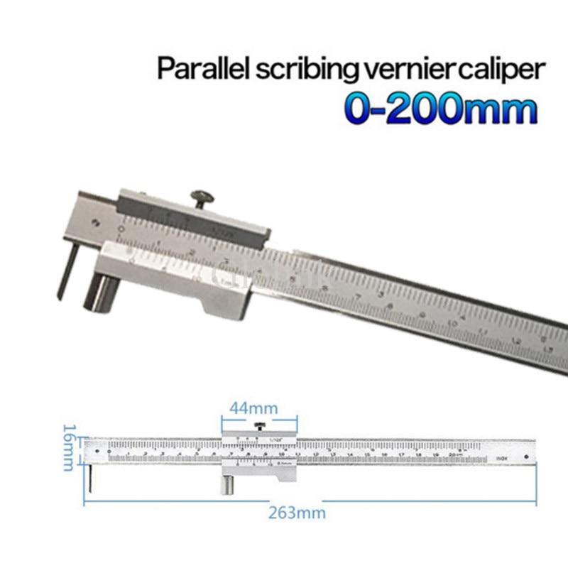 Stainless steel Parallel marking vernier caliper 0-200mm marking gauge with Carbide scriber Marking Gauge tool engineers 200mm height measuring caliper carbide scratcher scriber