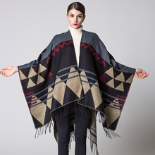 Fashion brand 2016 women scarf winter ponchos and capes  Blanket carves Lady Pashmina poncho female shawl free size coat cloth