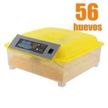Incubadora de 56 huevos automática Digital, incubadora de pollos, granja avícola, hogar