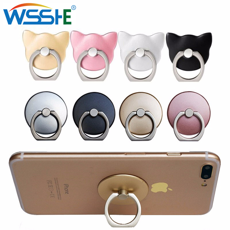 Best Round Mobile Phone Holder Ring Stand Flexible Grip Marble Donut 3D Animal Expanding Bracket Tablets Mount
