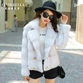 2016 new womens short double breasted coat natural real mink fur fashion fur jacket outwear