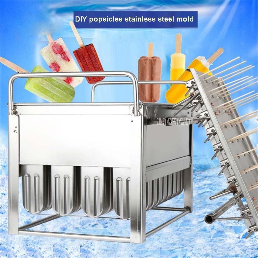 FAI DA TE Popsicle Yogurt Gelato Della Muffa Della Muffa del Cubo di Ghiaccio Freezer Congelato Cibo Ghiaccioli Stampi In Acciaio Inox 40 Rami Ghiaccio Iolly Maker