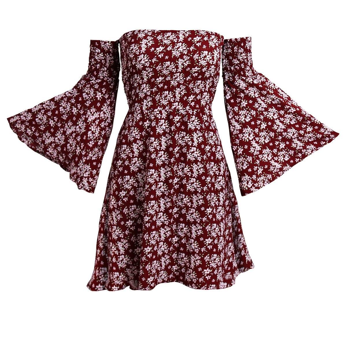 Ρομαντικό φόρεμα καλοκαιρινό μίνι στράπλες