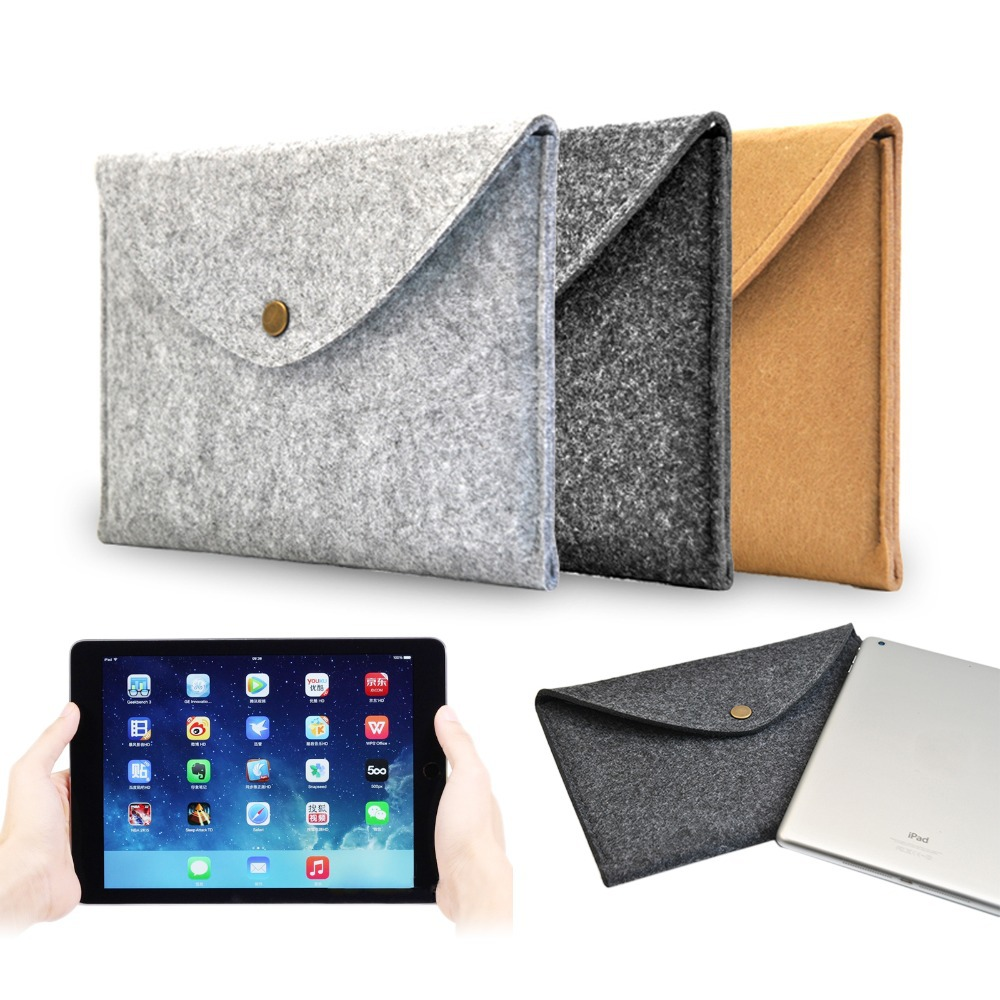 Mini 1 2 3 Retina Cover 7.9 inch Wool Felt Envelope Hand Hold Tablet Notebook Cover Case Durable Bag for Apple iPad Mini 1 2 3