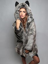 New Design Fashion 2015 Winter Women Faux Fox Mink Fur Coat Woman Luxury Medium Fake Fur Coats Mujer Female Overcoat Ladies