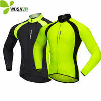 WOSAWE Herbst Radfahren Trikots Männer Fahrrad Sportswear Atmungs Zyklus Downhill MTB Reflektierende Langarm Kleidung Bike Shirts