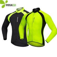 WOSAWE maillot de cyclisme à manches longues pour hommes, vêtements de sport réfléchissants, respirants, Cycle de descente, vtt, automne