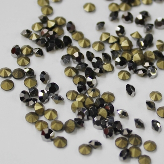 Ss11.5-ss25 Hematite Color Pointback Rhinestones Glass Material Beads Used For Jewelry Nail Art Decoration ss11 5 ss25 siam color pointback rhinestones glass material beads used for jewelry nail art decoration