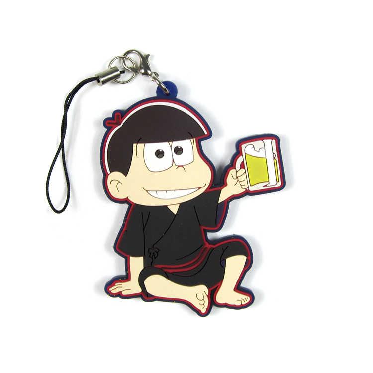 6 รูปแบบ Osomatsu - san ยางพวงกุญแจ MATSUNO KARAMATSU MATSUNO ICHIMATSU OSOMATSU Action รูปอะนิเมะรุ่นจี้ของขวัญ 6 ซม.