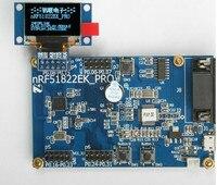 Nhanh Miễn Phí Ship NRF51822 ban phát triển giao phối ánh sáng lạnh OLED hiển thị module 0.96 '' 128*64 mạng Dot Matrix LED từ màu xanh