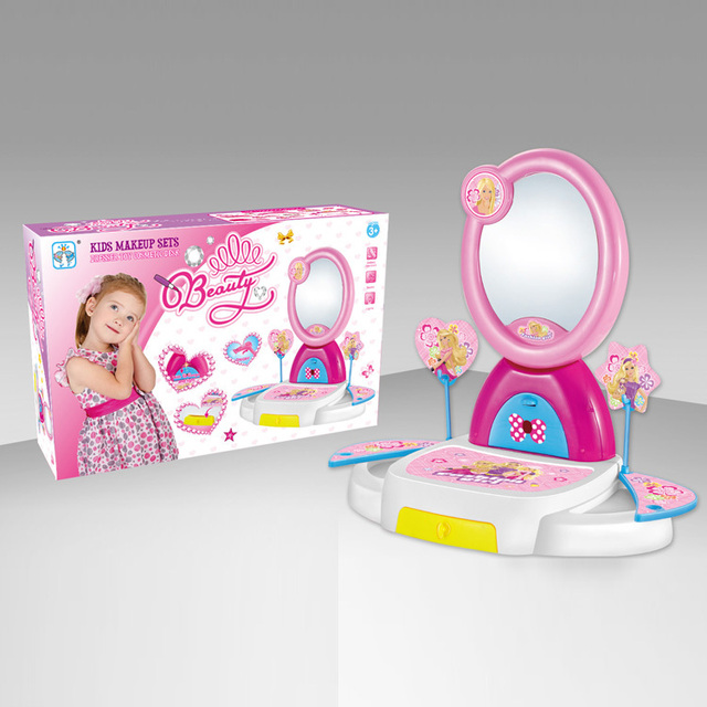Free Shipping Baby Girl Dressing Table Make Up Play Toys Set Pretent Play  Toy Princess Vanity