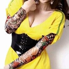 2Pcs Men Women Elastic Fake Cool Temporary Tattoo Long Sleeves Arm Stockings