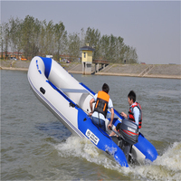 Anti collision thickening laminated inflatable boat fishing boat rubber boat with aluminum floor
