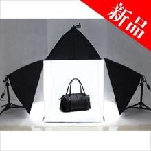 Photo Studio Light Tent Cube Soft Lighting Backdrop Kit 60cm 3pcs softbox background photo box softbox kit studio box cd50