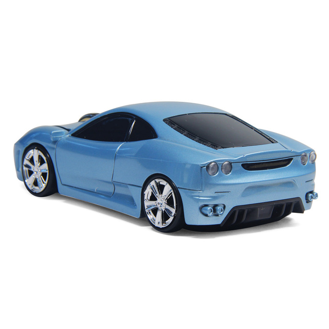 Car Shape Mouse Fashion Gifts for Friends/Kids Lightweight Optical 2.4GHz USB Powered Blue Wireless Mice for PC Laptop