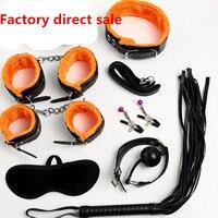 Sex Bondage Kit 7 Stks/set Sexy Producten Volwassen Spelletjes Sex Toy Set Handboeien Footcuff Zweep Touw Blinddoek voor Koppels Erotische Speelgoed