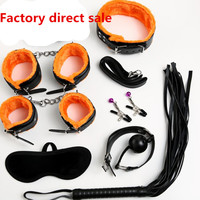 Sex Bondage Kit 7 Pcs/Set Sexy Products Adult Games Sex Toy Set Hand Cuffs Footcuff Whip Rope Blindfold for Couples Erotic Toys
