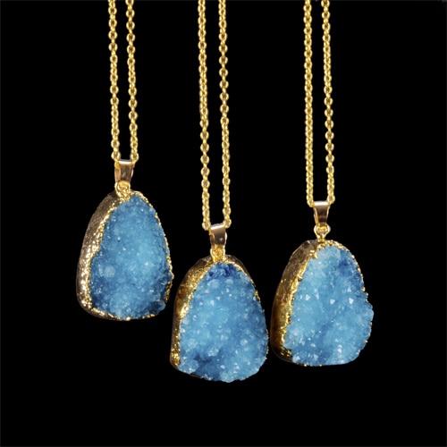 2015 New Fashion Natural Stone Druzy Drusy Pendant...