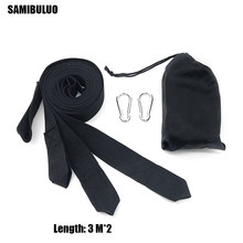 3M*2pcs Hammock Hanging Belt Hammock Strap Rope With Metal Buckle Hook(China)