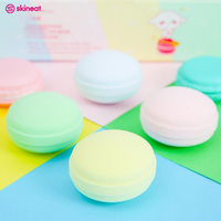 Skineat 4 Pcs Soft Macaron Cosmetic Puff Mini Cute Foundation Facial Makeup Tool Colorful Sweetheart Sponge