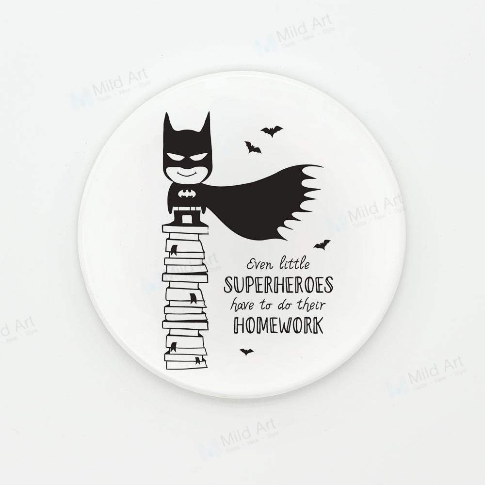 Nordic Black White Superhero Batman Quotes Game Kids