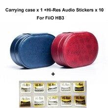 Estuche portátil para auriculares FiiO HB3, estuche portátil para auriculares, estuche portátil de viaje resistente al agua