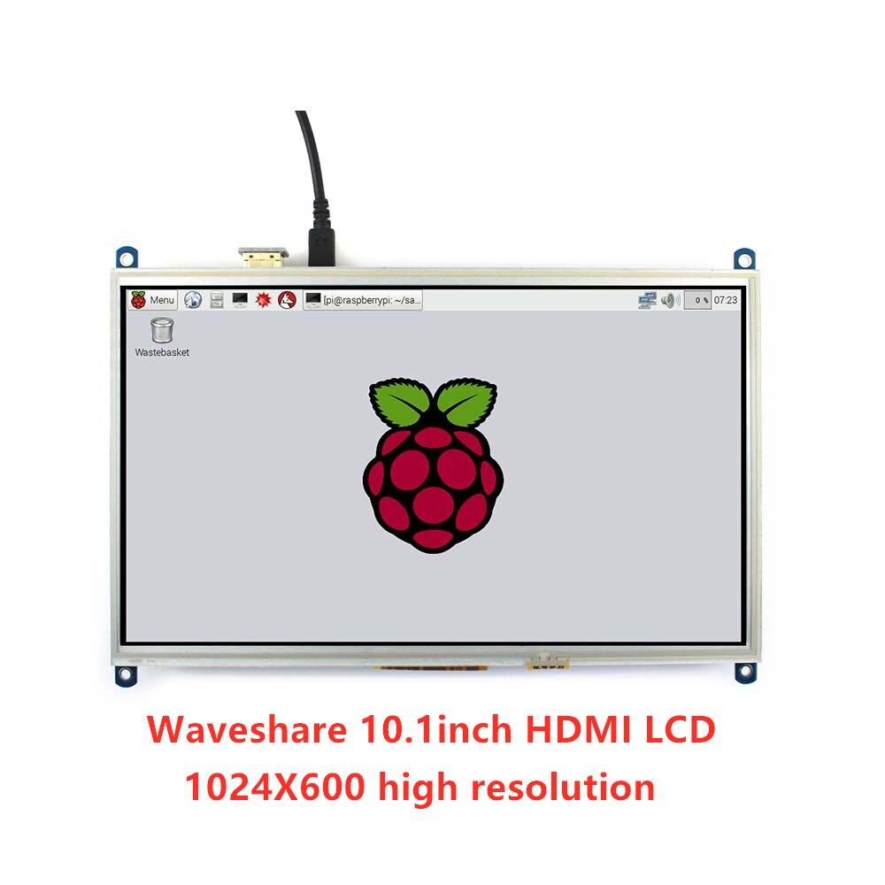 Waveshare 10,1 дюймов резистивный сенсорный экран ЖК планшет 1024*600, для всех Raspberry Pi + задний светильник + низкое энергопотребление
