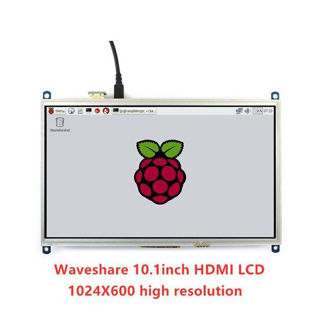 Waveshare 10.1 pollici Touch Screen Resistivo Tablet LCD 1024*600, per tutti i Raspberry Pi + Posteriore di controllo della luce + più basso consumo di energia