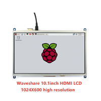 Waveshare 10.1inch Resistive Touch Screen LCD Tablet 1024*600 ,for all Raspberry Pi+Back light control + lower power consumption