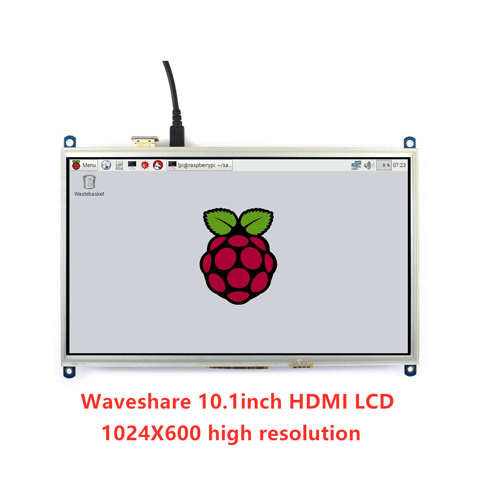 Waveshare <font><b>10</b></font>.1inch Resistive Touch Screen LCD Tablet <font><b>1024</b></font><font><b>*</b></font><font><b>600</b></font> ,for all Raspberry Pi+Back light control + lower power consumption image