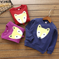 V-TREE Girls Cotton Hoddies Spring Baby Girl Long Sleeve T Shirts Children Cartoon Fleeces Infant Casual T-Shirt Sweatshirt