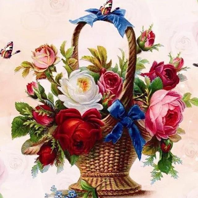 Cesto Flores Decoraci Ef Bf Bdn