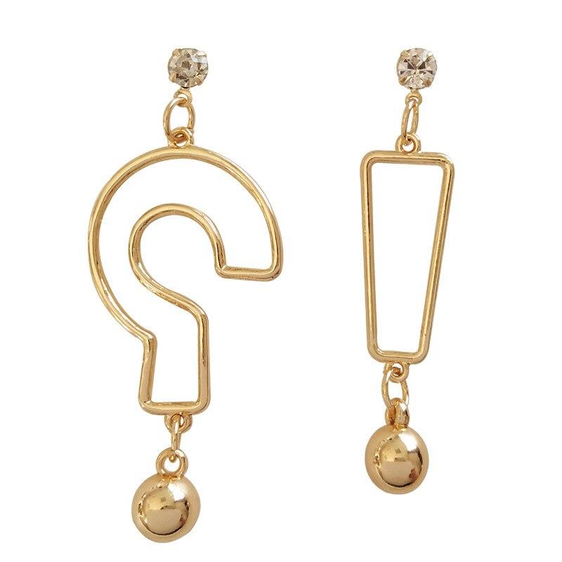 2018 fashion women earrings eardrop geometric metal punk big earrings Beautiful delicate statement earrings Earrings jewelry gif