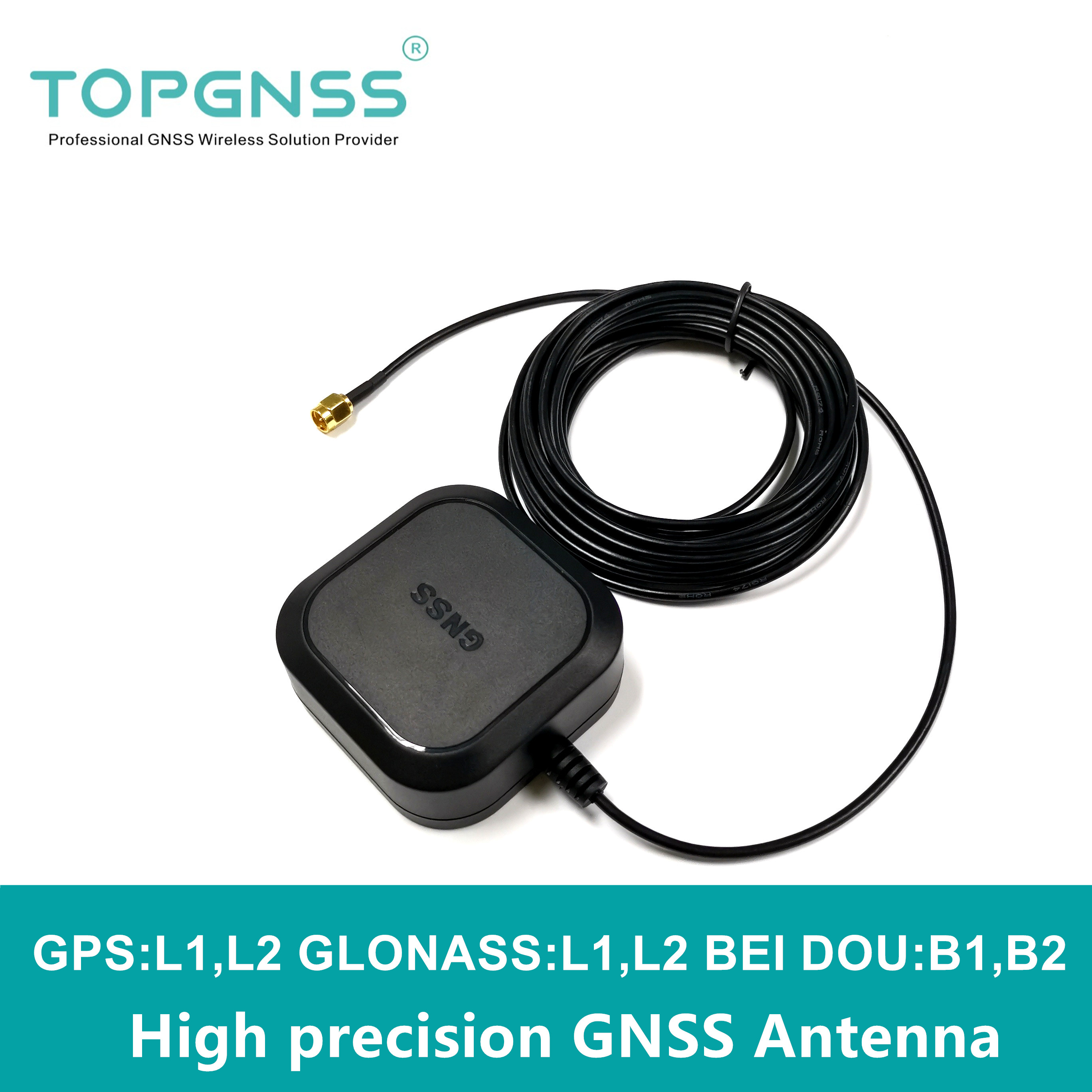 NEW High Precision GPS GNSS Antenna,RTK GPS Antenna,UAV-UGV High Precision Gain For ZED-F9P  ANN-MB-00 RTK Antenna BEIDOU,SMA-J