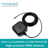 TOPGNSS NOVA alta precisão GPS antena GNSS, RTK GPS antena, UAV-UGV Alta precisão módulo de ganho Para ZED-F9P GLONASS BEIDOU, SMA-J