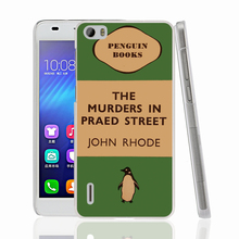 07154 penguin murders praed street cell phone Cover Case for huawei honor 3C 4A 4X 4C 5X 6 7
