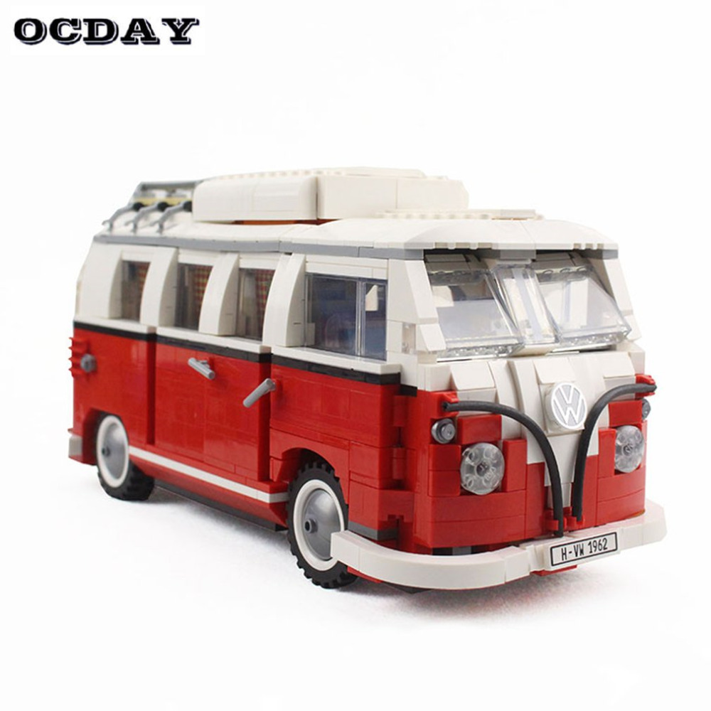 Camping Car Model Car Building Blocks Set Bricks Toys For Kids Children Gift Camp Van Educational Toys Model Construction Toy magnetic sticks building blocks 218pcs set intelligence toys plastic car toy educational magnet bricks kit for children kids