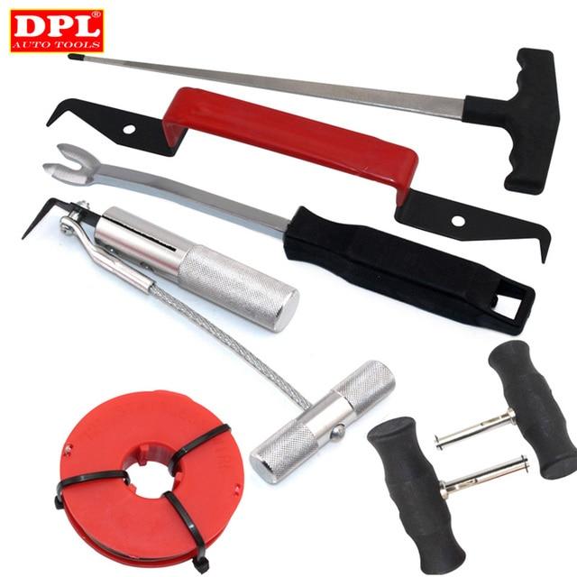 Kit doutils pour enlever les vitres de pare brise, outils à main pour automobile, 7 pièces