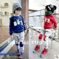 Free shipping children clothing sets full sleeve boys girls spring clothes set 2pcs T shirt + pants