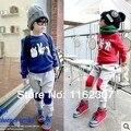 Frete grátis crianças roupas meninos meninas roupas set 2 pcs manga T + calças