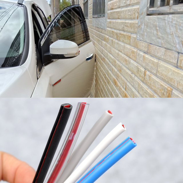 5M Car Door Edge Rubber Protection Strips Side Doors Moldings Side Anti-wear Protection Car Door From Scratches DIY Car-styling