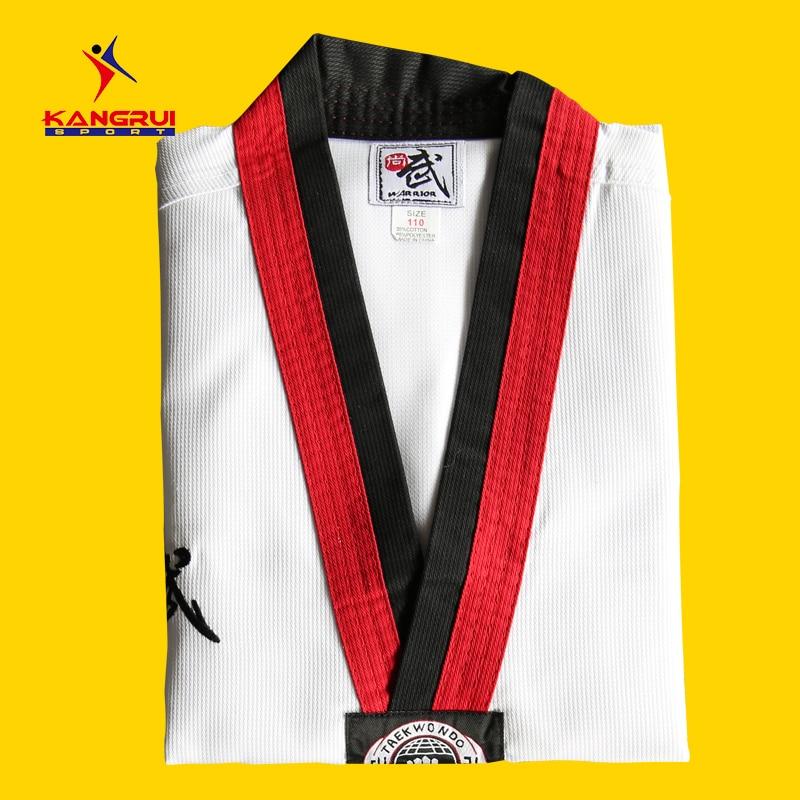 Sports & Entertainment Forceful New Coming Kangrui Taekwondo Uniform Children Man Woman Taekwondo Dobok Comfortable Breathable High Quality Material Street Price