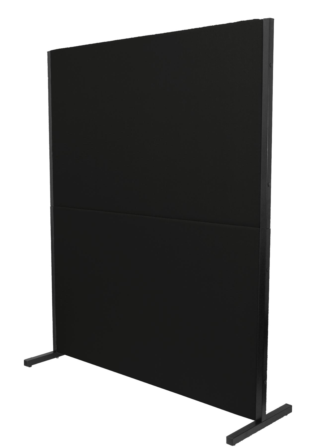 Folding Screen Separator P Ara Offices And Working Centers, Detachable And With Black Color Structure Upholstered In Tissue Ara